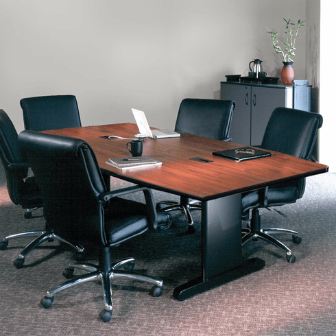 "Mayline 96""x48"" Rectangular Conference Table Windsor Mahogany [R94RP]"
