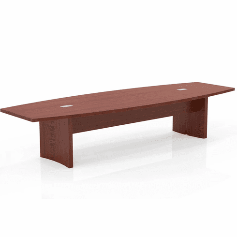 Mayline Aberdeen 12' Conference Table, Boat Cherry [ACTB12LCR]