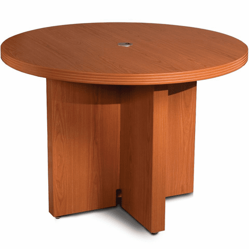 "Mayline Aberdeen 42"" Round Conference Table Cherry [ACTR42LCR]"