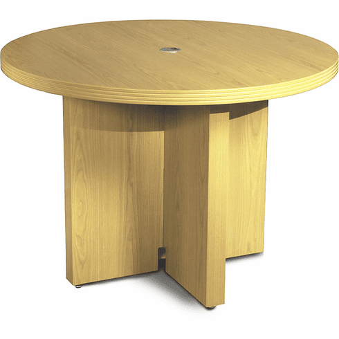 "Mayline Aberdeen 42"" Round Conference Table Maple [ACTR42LMA]"