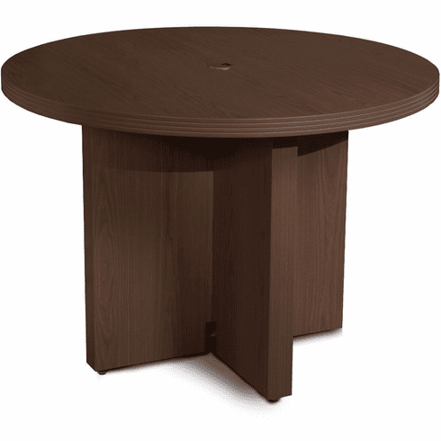 "Mayline Aberdeen 42"" Round Conference Table Mocha [ACTR42LDC]"