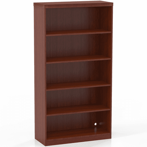 Mayline Aberdeen 5 Shelf Fixed Bookcase Cherry [AB5S36LCR]
