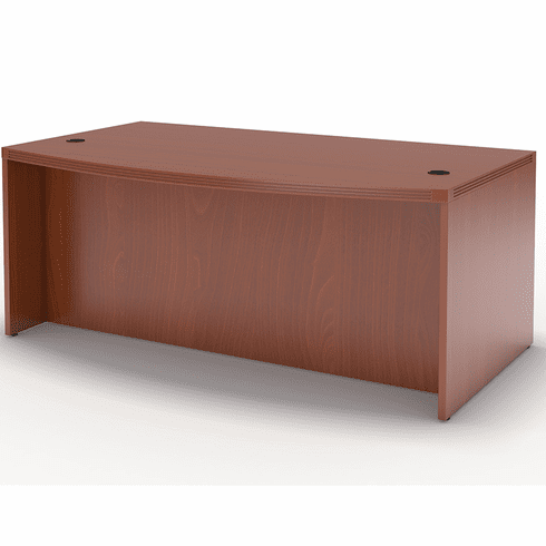 "Mayline Aberdeen 66"" Bow Front Desk Cherry [ABD6642LCR]"