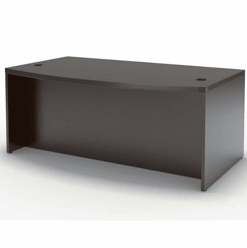 "Mayline Aberdeen 66"" Bow Front Desk Gray Steel [ABD6642LGS]"