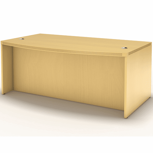 "Mayline Aberdeen 66"" Bow Front Desk Maple [ABD6642LMA]"