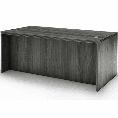 "Mayline Aberdeen 72"" Rectangular Desk Gray Steel [ARD7230LGS]"