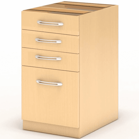 Mayline Aberdeen Desk PBBF Pedestal Maple [APBBF26LMA]