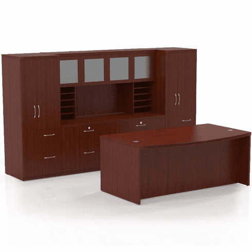 Mayline Aberdeen Office Desk Set Cherry [AT9LCR]