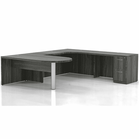 Mayline Aberdeen Office Desk Set Gray Steel [AT13LGS]