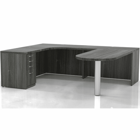 Mayline Aberdeen Office Desk Set Gray Steel [AT19LGS]