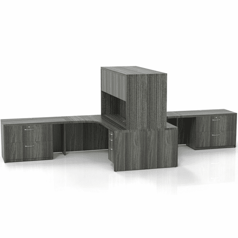 Mayline Aberdeen Office Desk Set Gray Steel [AT26LGS]