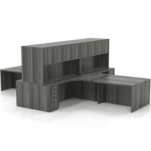 Mayline Aberdeen Office Desk Set Gray Steel [AT27LGS]