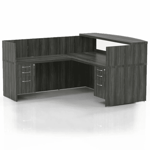 Mayline Aberdeen Office Desk Set Gray Steel [AT36LGS]