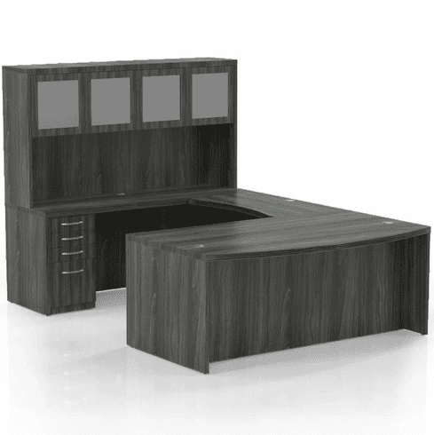 Mayline Aberdeen Office Desk Set Gray Steel [AT5LGS]