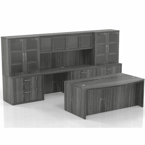 Mayline Aberdeen Office Desk Set Gray Steel [AT7LGS]