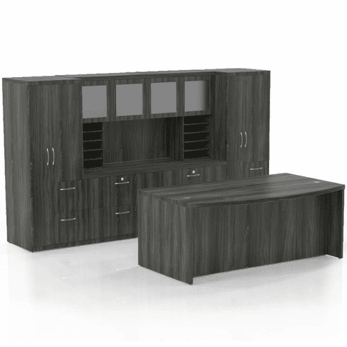 Mayline Aberdeen Office Desk Set Gray Steel [AT9LGS]