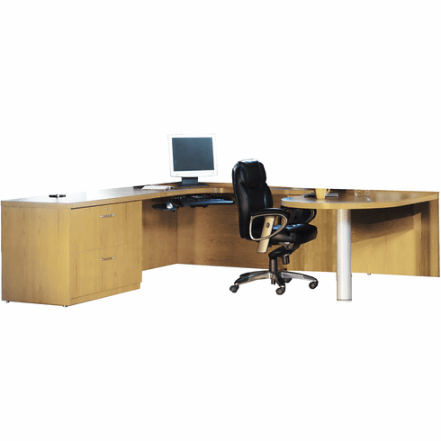 Mayline Aberdeen Office Desk Set Maple [AT12LMA]
