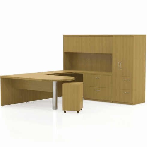 Mayline Aberdeen Office Desk Set Maple [AT15LMA]