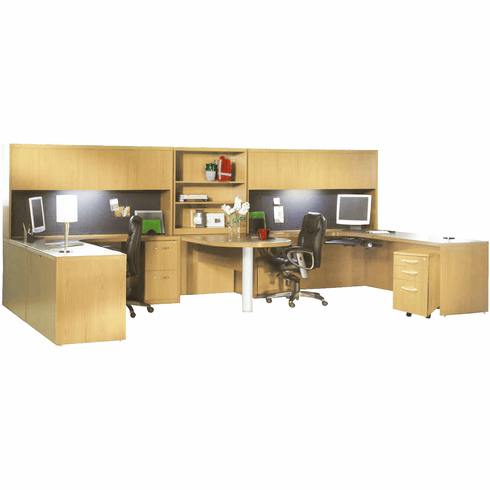 Mayline Aberdeen Office Desk Set Maple [AT17LMA]