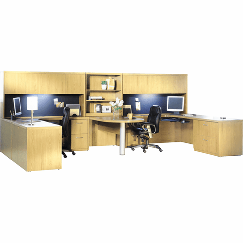 Mayline Aberdeen Office Desk Set Maple [AT18LMA]