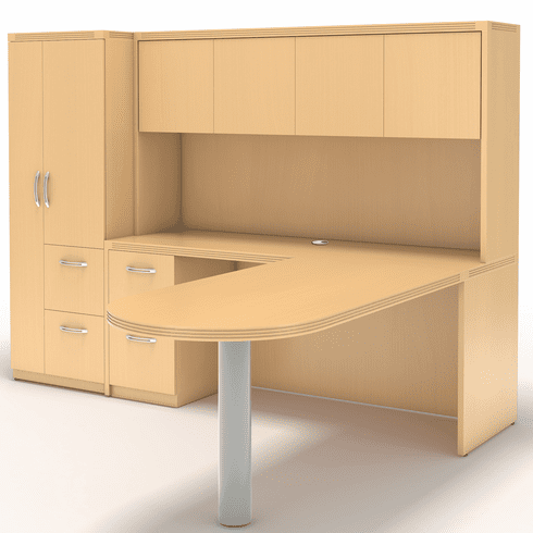 Mayline Aberdeen Office Desk Set Maple [AT22LMA]