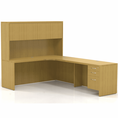 Mayline Aberdeen Office Desk Set Maple [AT25LMA]