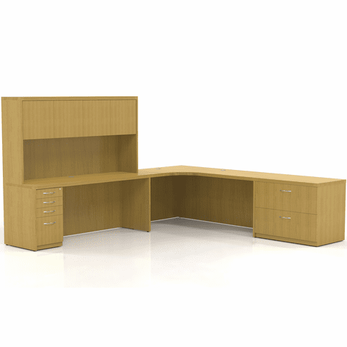 Mayline Aberdeen Office Desk Set Maple [AT29LMA]