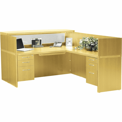 Mayline Aberdeen Office Desk Set Maple [AT36LMA]