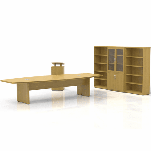 Mayline Aberdeen Office Desk Set Maple [AT40LMA]
