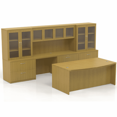 Mayline Aberdeen Office Desk Set Maple [AT7LMA]