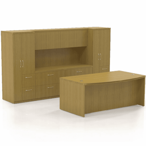 Mayline Aberdeen Office Desk Set Maple [AT8LMA]