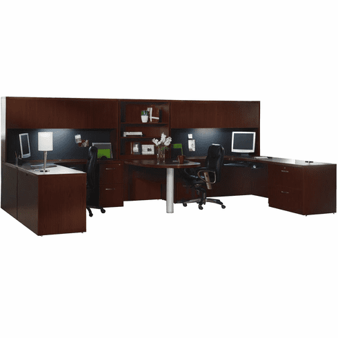 Mayline Aberdeen Office Desk Set Mocha [AT18LDC]