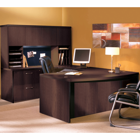Mayline Aberdeen Office Desk Set Mocha [AT2LDC]