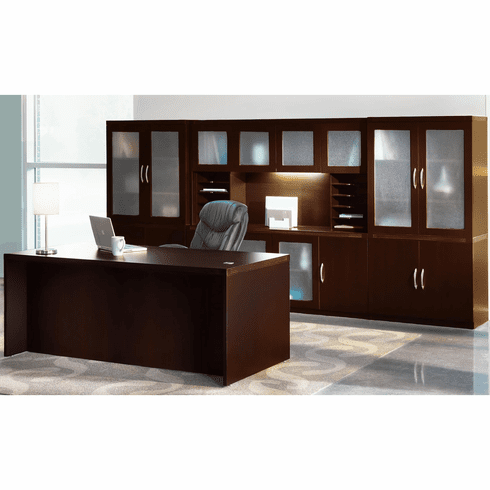 Mayline Aberdeen Office Desk Set Mocha [AT35LDC]