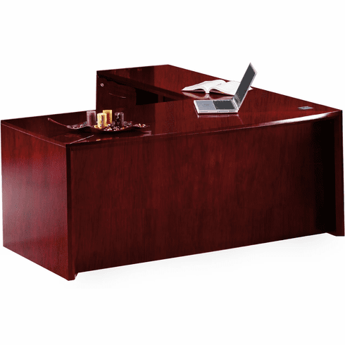 "Mayline Corsica 72"" L-Shaped Executive Desk Sierra Cherry [CT12CRY]"