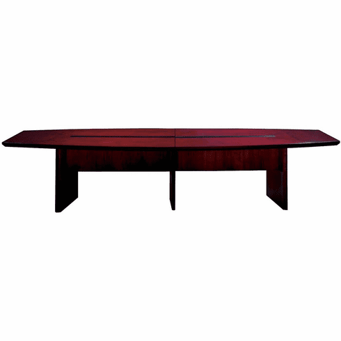 Mayline Corsica 12' Conference Table Boat-Shaped Mahogany [CMT12MAH]