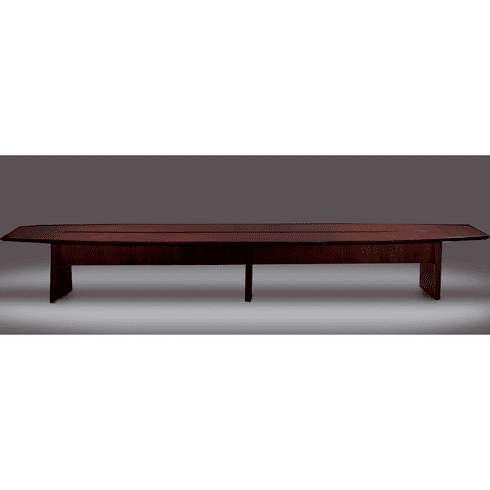 Mayline Corsica Conference Table Boat-Shaped Mahogany [CMT18MAH]