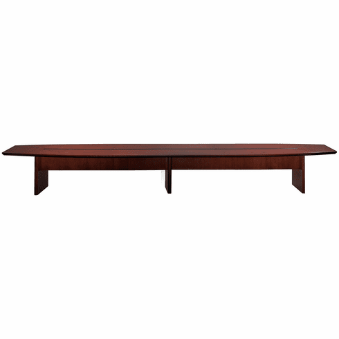 Mayline Corsica 20' Conference Table Boat-Shaped Mahogany [CMT20MAH]