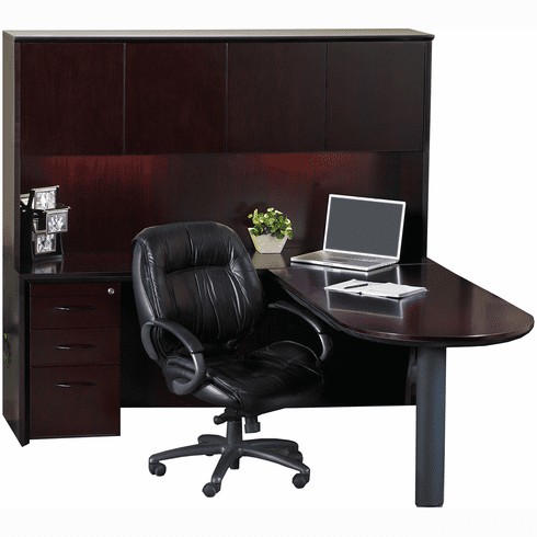Mayline Corsica Office Desk Set Mahogany Veneer [CT19MAH]