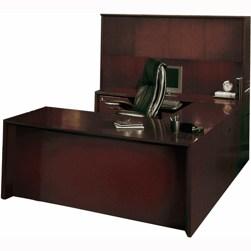 Mayline Corsica Office Desk Set Mahogany Veneer [CT4MAH]