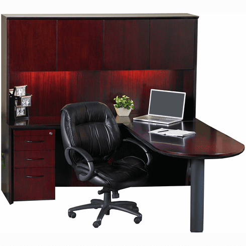 Mayline Corsica Office Desk Set Sierra Cherry Veneer [CT19CRY]