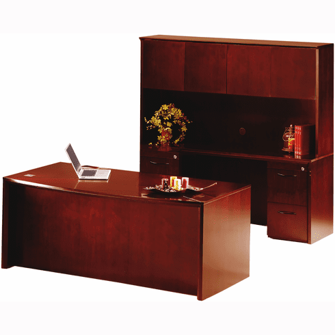 Mayline Corsica Office Desk Set Sierra Cherry Veneer [CT22CRY]