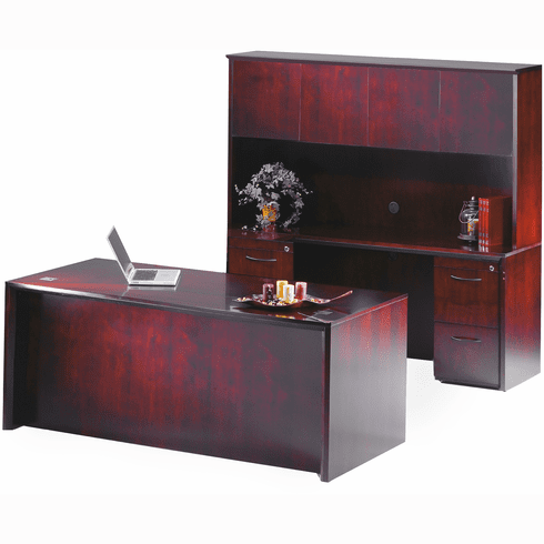 Mayline Corsica Office Desk Set Sierra Cherry Veneer [CT24CRY]
