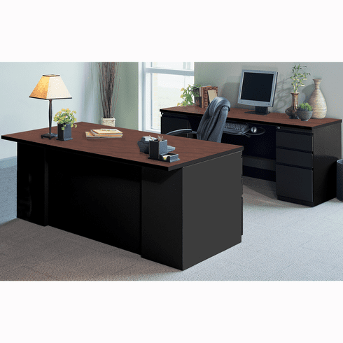 Peachy Mayline Csii Desking Office Desk Set Black Crown Cherry Cst7Cchblk Home Interior And Landscaping Ologienasavecom