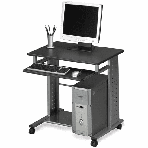 Mayline Empire Mobile PC Station Metallic Gray, Anthracite [945ANT]