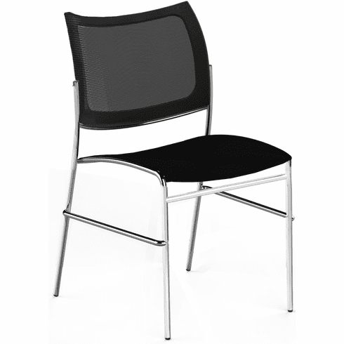 Mayline Escalate Mesh / Plastic Stacking Chair Set of 4 [EMC2MB]