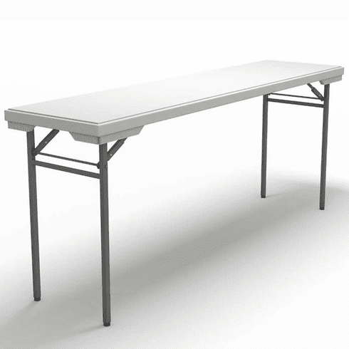 "Mayline Event 72""x18"" Rectangular Table Dark Gray [721872DGWT]"