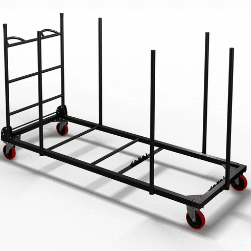 "Mayline Event Table Cart for 30"" Deep Tables Black [7730WCB]"