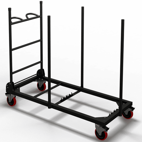 "Mayline Event Table Cart for 48""x24"" Tables Black [7724WCB]"