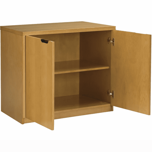Mayline Luminary 2-Door Hinged Credenza Maple Veneer [HDC3620M]